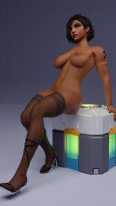 overwatch-porn-hentai-–-large-breasts,-dark-skinned-female,-toes,-egyptian,-pharah,-black-hair