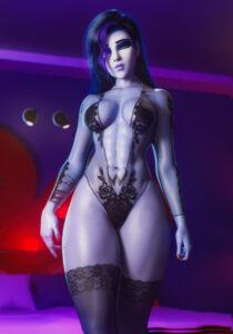 overwatch-hentai-xxx-–-noahgraphicz,-long-hair,-nail-polish,-purple-hair,-hourglass-figure