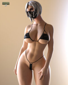 hush-xxx-art-–-white-hair,-gasmask,-nipple-bulge
