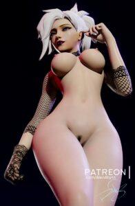 overwatch-hentai-art-–-white-hair,-wide-hips,-pubic-hair,-lipstick,-alternate-hair-color