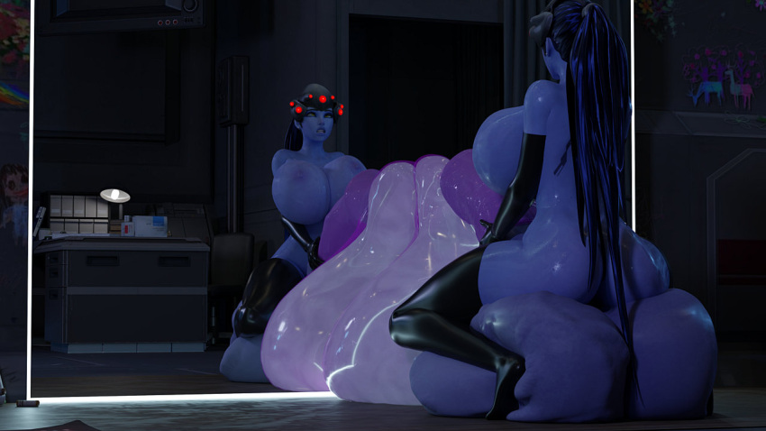 overwatch-hentai-porn-–-blender,-condom-filling,-huge-breasts,-gigantic-testicles,-thighhighs,-elbow-gloves,-blizzard-entertainment