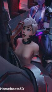overwatch-game-porn-–-horsebootspale-skin,-blender-(software),-goth,-ultraviolet-tracer