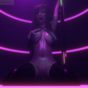 overwatch-hentai-–-holding-breast,-nipples,-asian-female,-kneeling,-stripper-pole