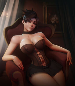 overwatch-game-porn-–-light-skinned-female,-female-only,-bored,-see-through-top,-bored-expression,-toned-stomach