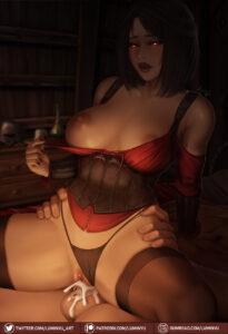 skyrim-hentai-art-–-cowgirl-position,-red-lipstick,-open-mouth,-cum-inside