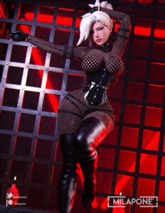overwatch-rule-xxx-–-female,-mercy,-fishnet-bodysuit,-leather,-looking-at-viewer