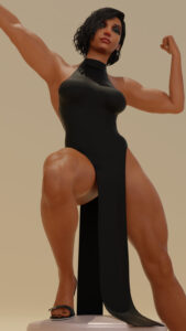 overwatch-rule-xxx-–-muscular-female,-dark-skin,-flexing,-egyptian,-black-hair,-heels