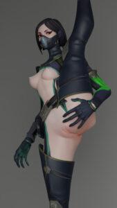 viper-hentai-xxx-–-breasts,-green-eyes.