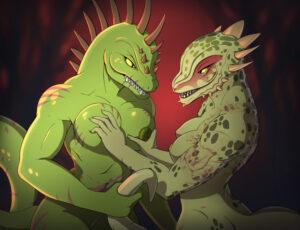 skyrim-xxx-art-–-scar,-horn,-green-body,-muscular-female,-muscular.