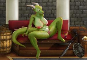 skyrim-hentai-porn-–-presenting,-scalie,-big-breasts,-katazai,-two-tone-body,-claws,-melee-weapon.