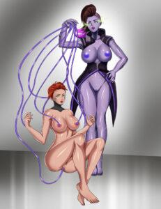 overwatch-hentai-art-–-topless,-tech-control.