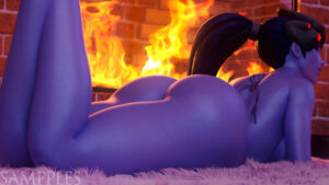 overwatch-rulex-–-laying-down,-fire,-nude-female,-smiling.