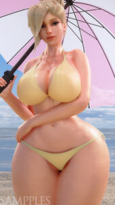 overwatch-game-hentai-–-solo,-holding-umbrella,-umbrella,-smile,-large-breasts,-looking-at-viewer.
