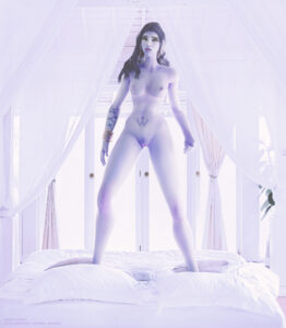 overwatch-rulern-–-medium-breasts,-ls,-pubic-hair,-pinup,-on-bed.