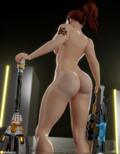overwatch-game-porn-–-female-only,-shield,-tattoo,-ass,-abs,-brown-hair,-nemesis-3d.