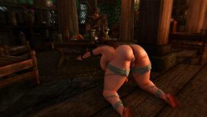 skyrim-game-porn-–-ass,-brown-hair,-cleaning,-legs-spread,-blush,-public-nudity.