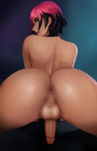 sunny-hentai-–-dickgirl,-futanari,-big-balls,-anus.