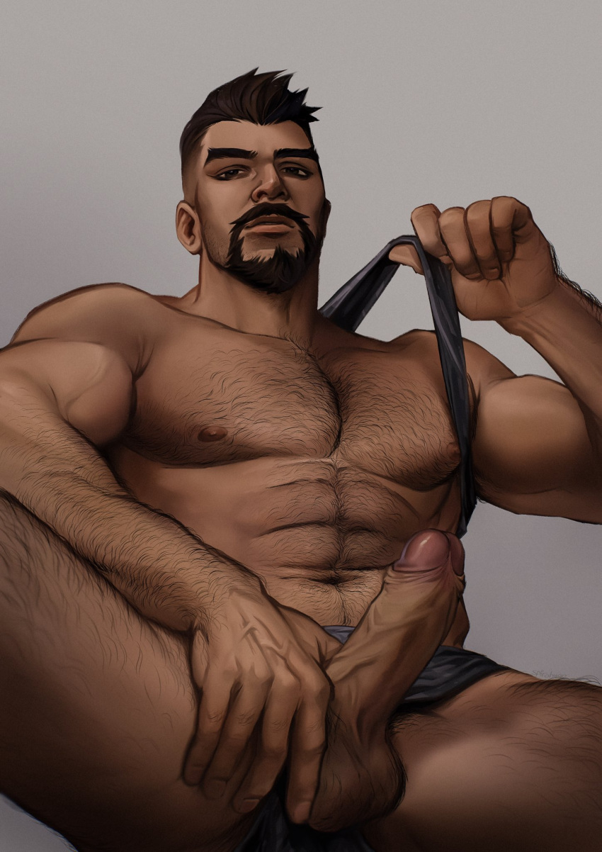 reaper-hentai-art-–-arm-hair,-seupil-hyugo-(spirohugo),-dark-skinned-male,-chest-hair,-realistic,-veiny-penis,-undercut.